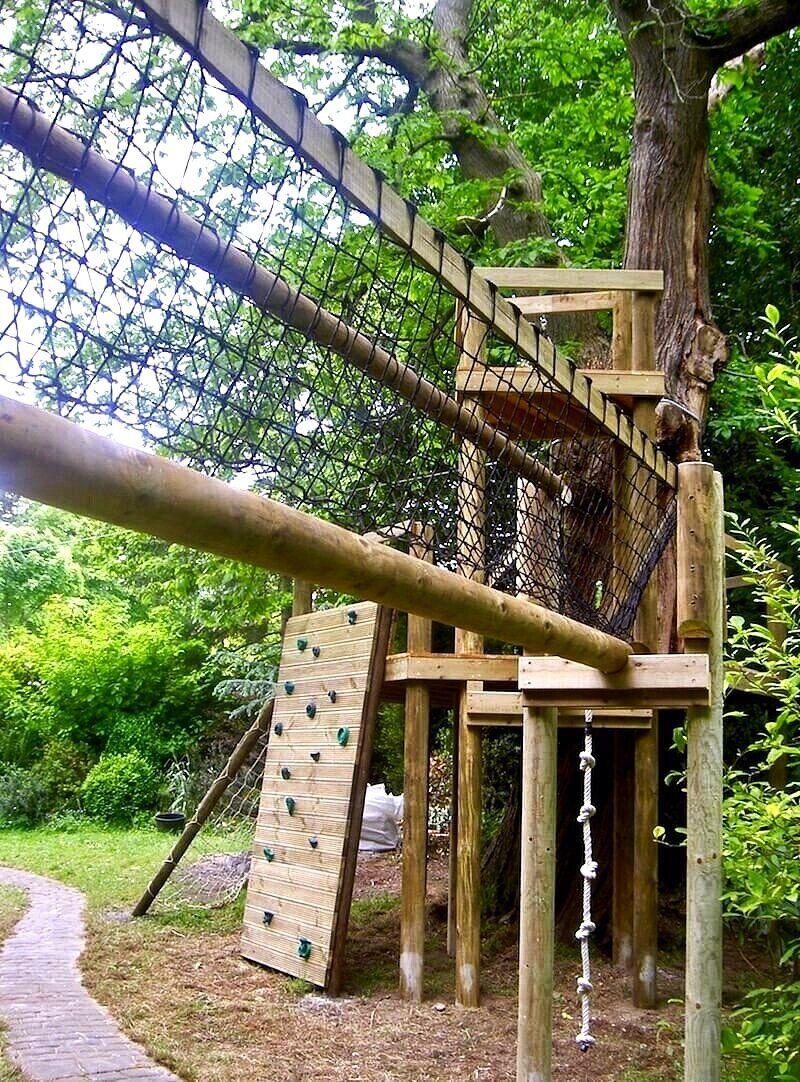 Garden Adventure Sheffield — Treehouses Rope Bridges Treetop Walkways and Nest Swings