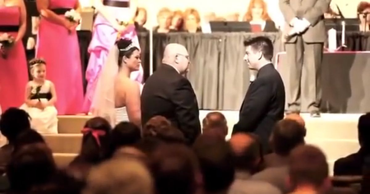 A Father Tells A Brief Story About His Daughter's Life In The Middle Of Her Wedding.