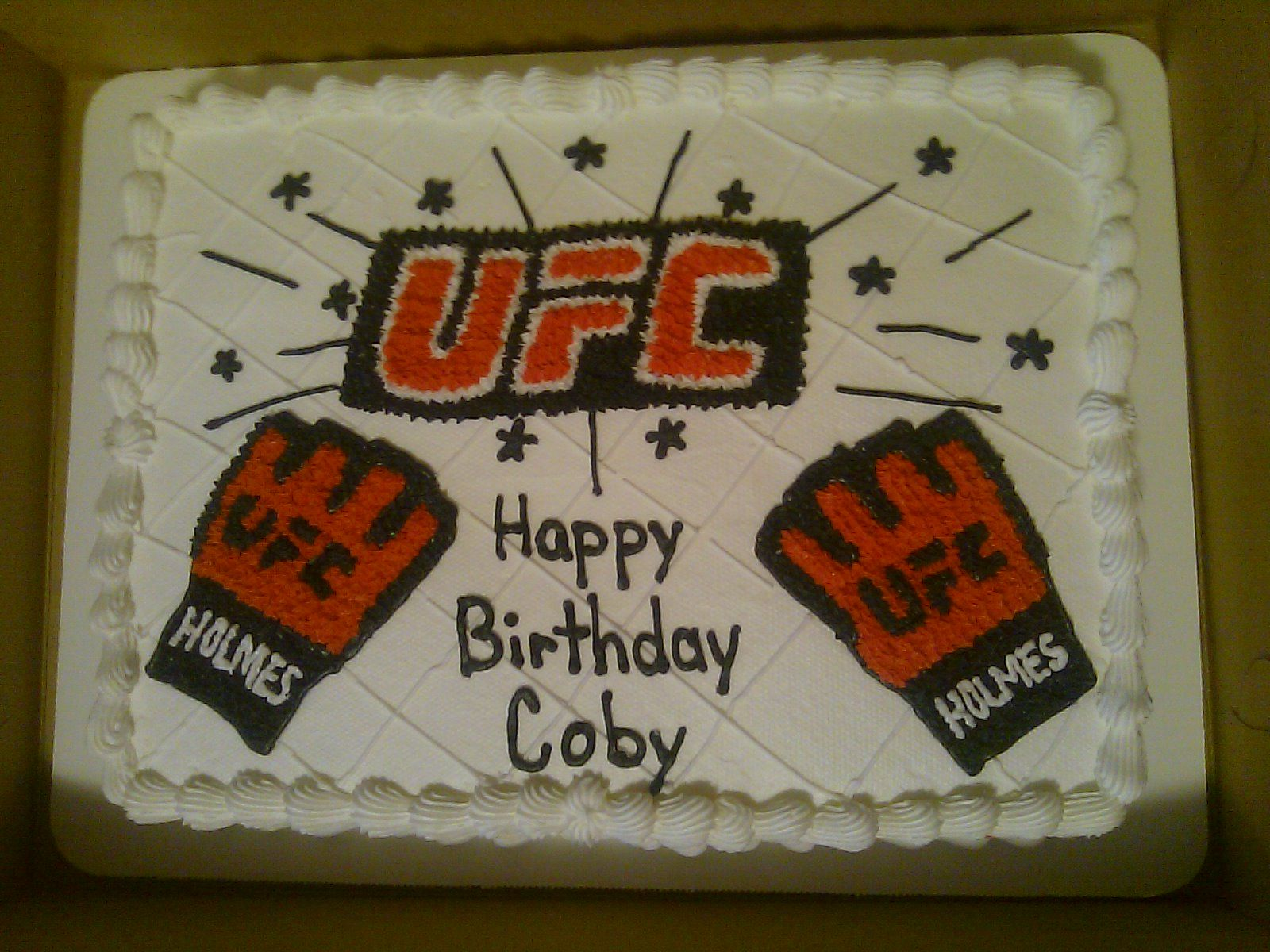 Ufc Birthday Cake For Coby Map Cake Happy Birthday Cards