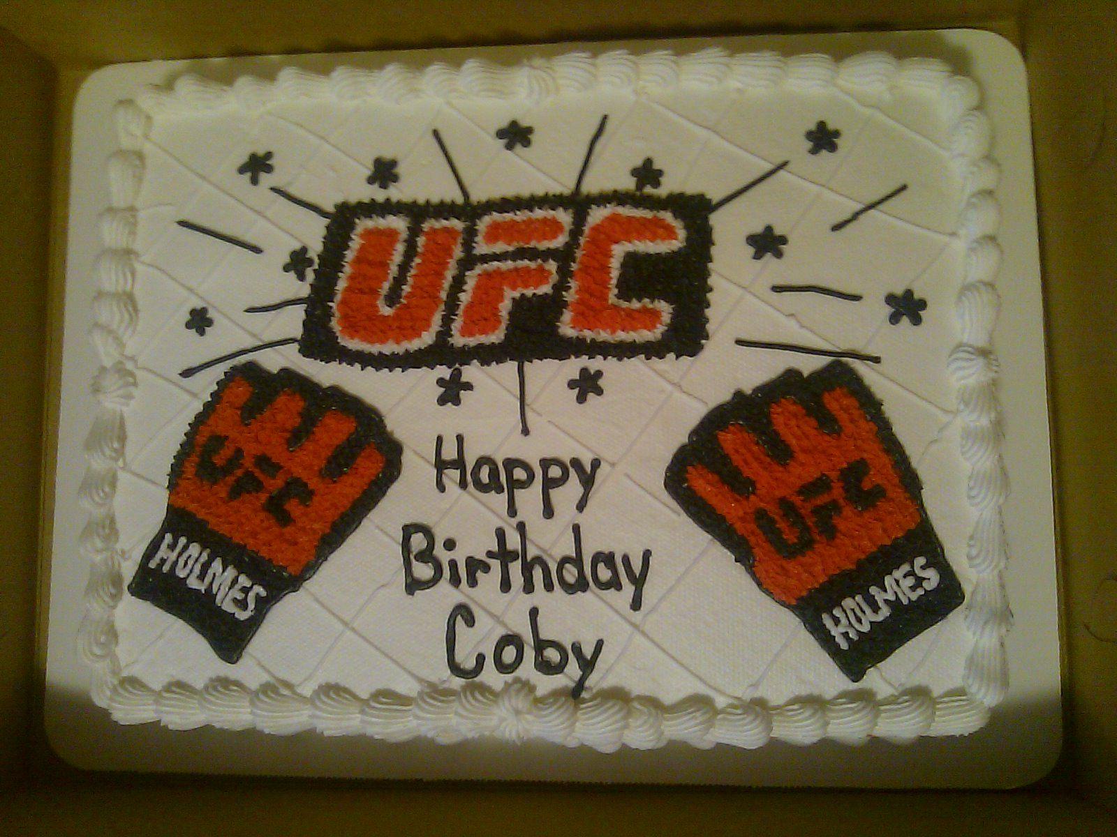 UFC Birthday Cake for Griffy  Map cake, Kendall birthday, Happy