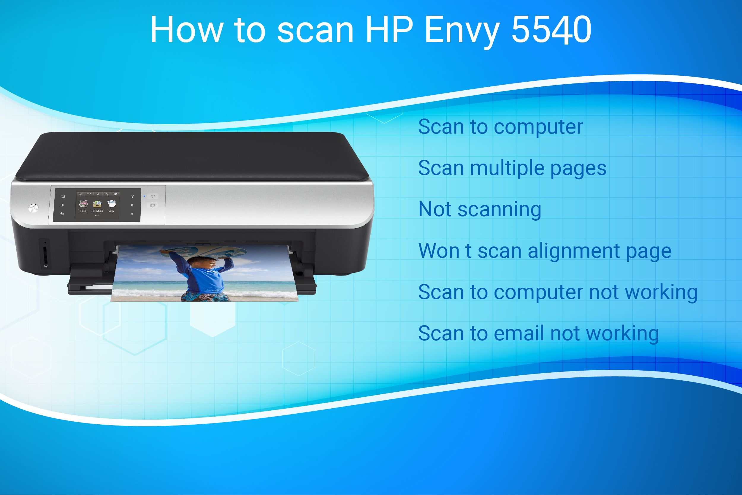 From how to scan on hp envy 5540 printer guide, download and