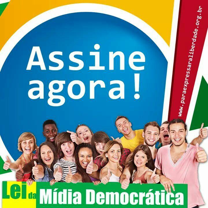 """Abaixo-Assinado pela Lei da Mídia Democrática (campanha """"Para Expressar a Liberdade"""", do FNDC)."""