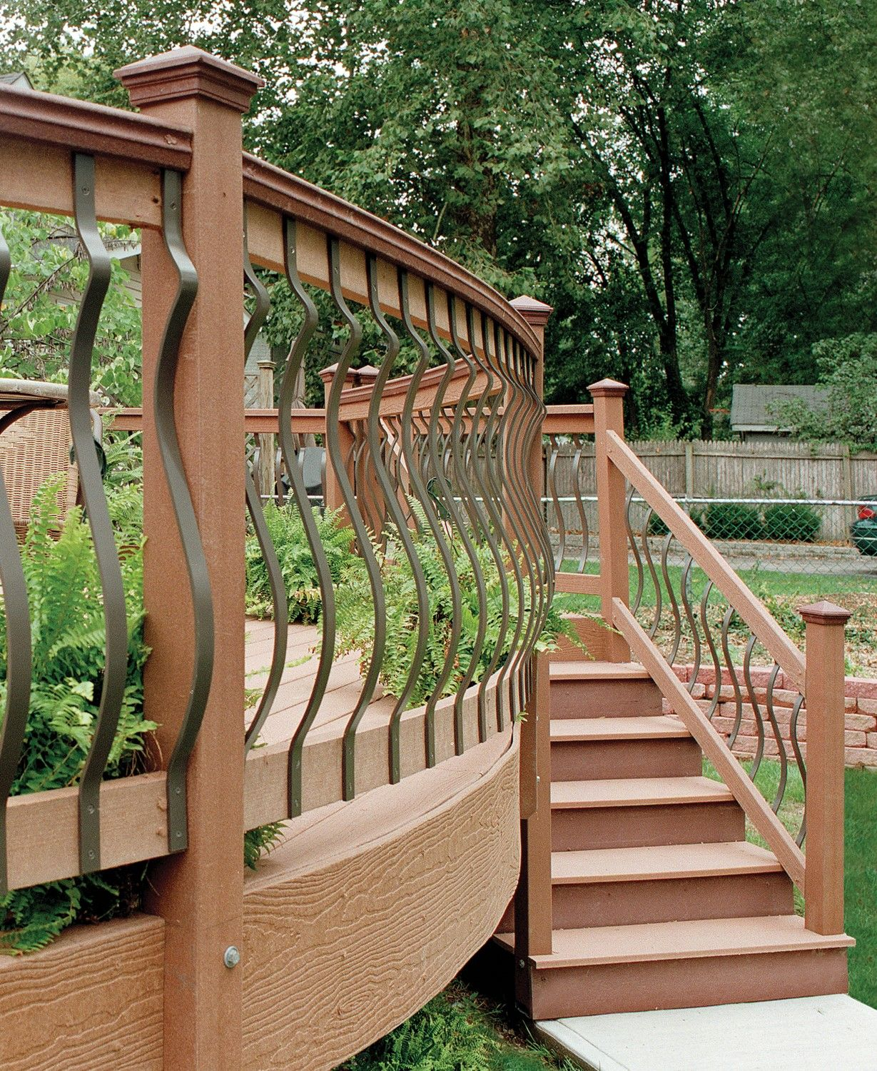 Forms Of Attractive Deck Barriers Dova Home Deck Railings Deck Landscaping Deck Pictures