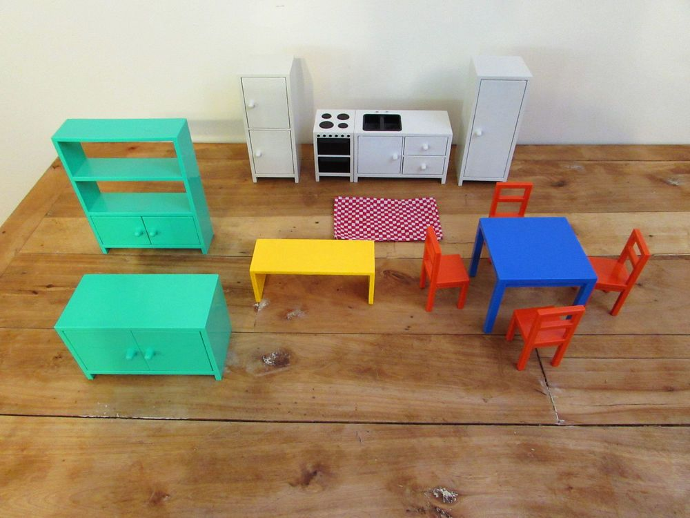 IKEA Lot Dollhouse furniture, Modern Doll House Furniture