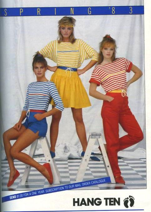 Loved the HANG TEN line 1980s fashion, 80s fashion, 1980s