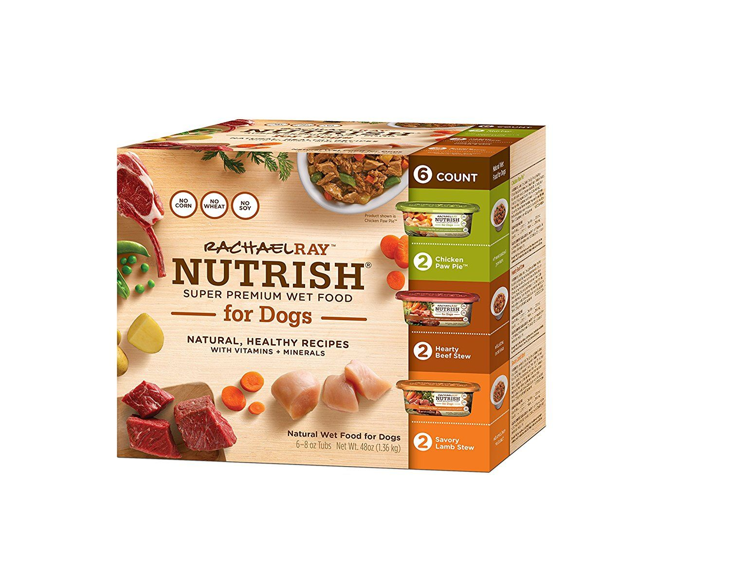 Rachael Ray Nutrish Natural Wet Dog Food Variety Pack Grain Free