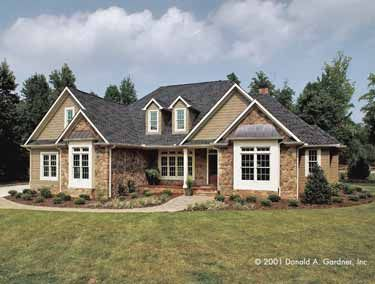 Quaint and Simple (HWBDO08183) | Cottage House Plan from BuilderHousePlans.com
