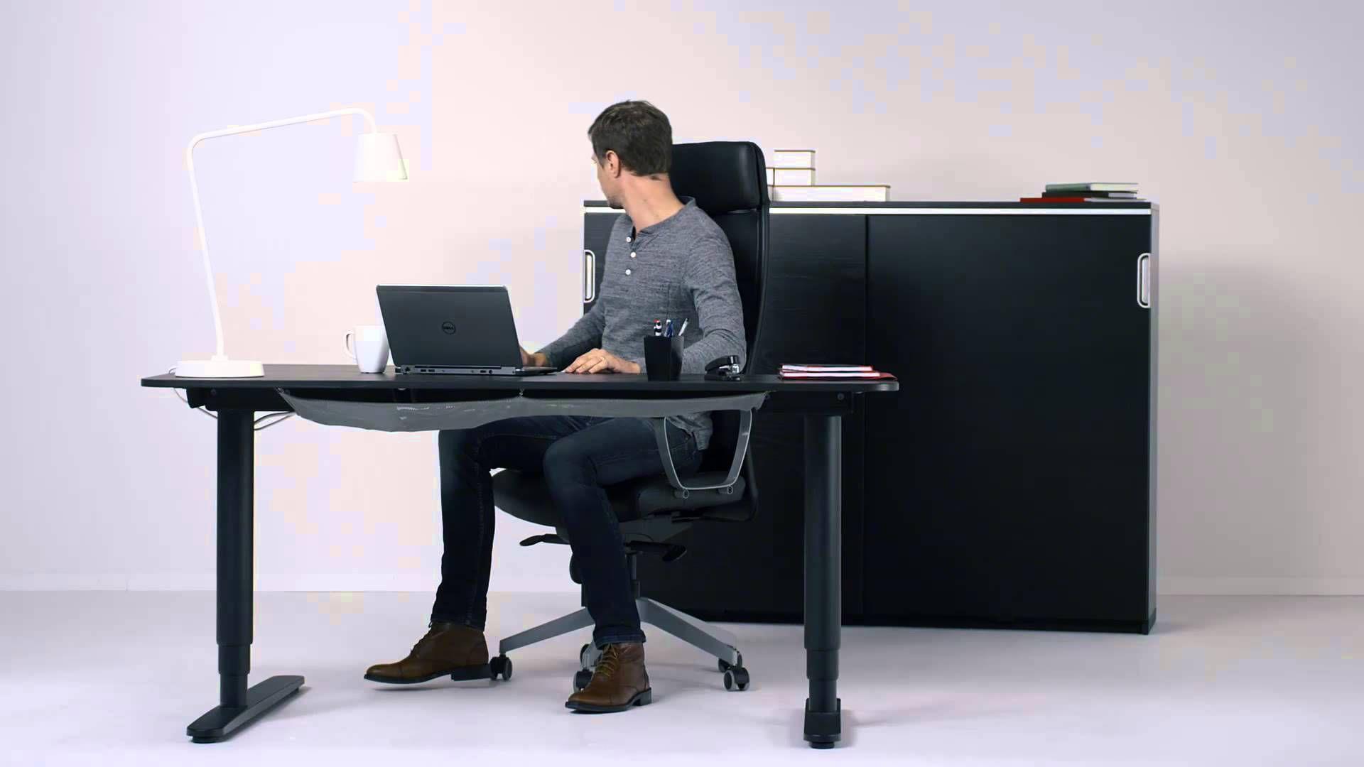 Ikea bureau bekant structure assis debout vivre ici