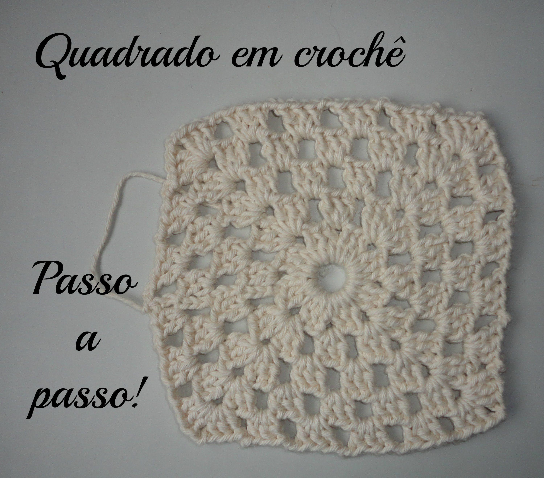 Quadrado Em Crochê Para Iniciantes Passo A Passo Croche Passo A Passo Croche Para Iniciantes Quadrados De Croche
