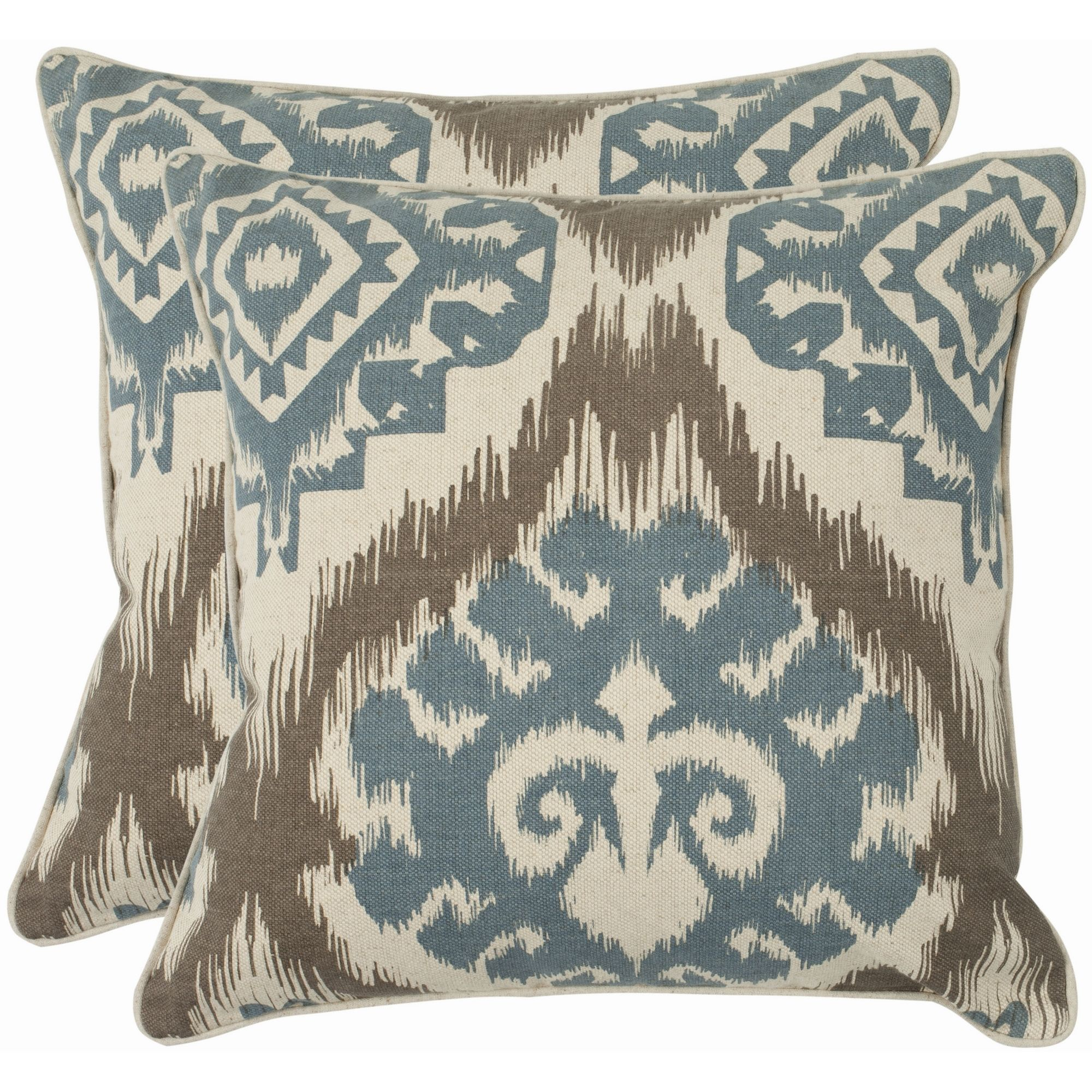kavka with accent turquoise blue pillows grey pin insert pillow ivory cosmos designs