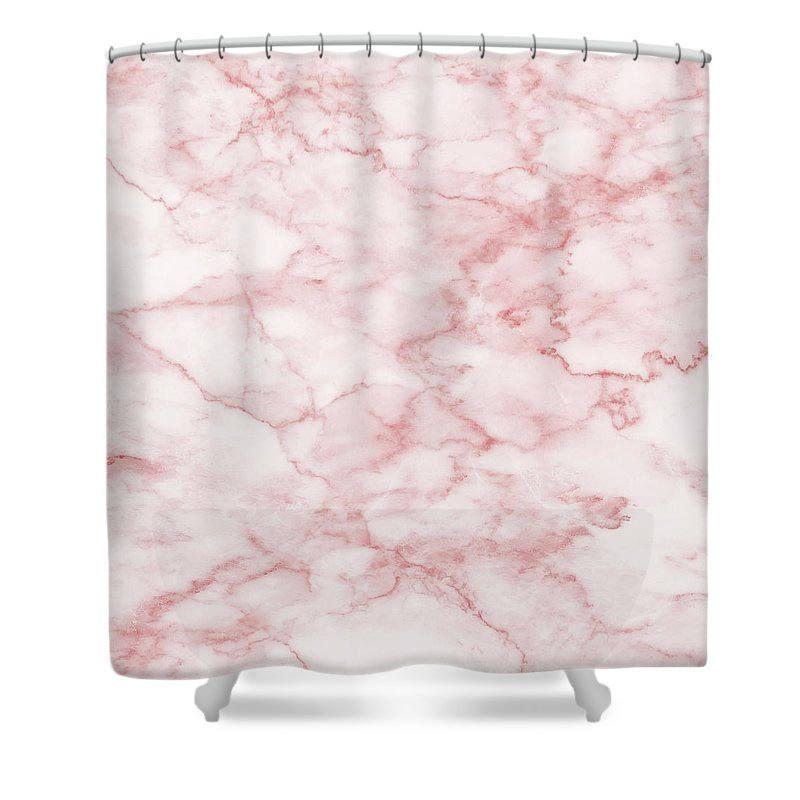 Marble Shower Curtain Pink Bathroom Curtain Girl Bathroom Pink