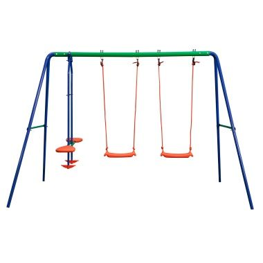 50 Delta Double Swing And Seesaw Swing Set Outdoor Play Toys