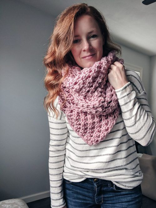 Photo of This knit scarf pattern was a bit of a test for me. I'm new to designing knitt…
