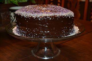 Velvet Elvis cake - velvet cake + espresso rum syrup + ganache
