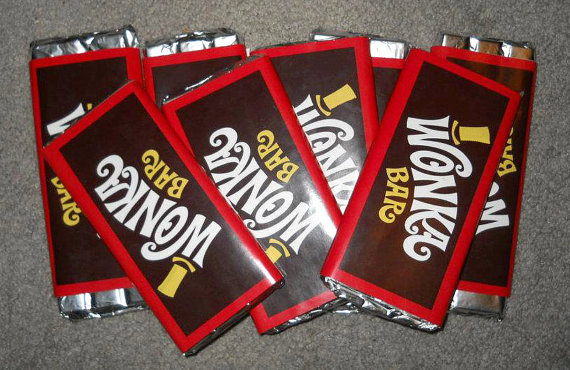 Generic Wonka Bar Labels by OhhSoNice on Etsy, $7.25