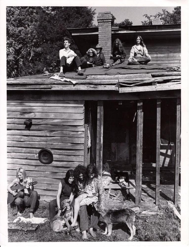 Original 1968 Photo Hippies In Meadville Ohio Commune Cleveland Plain Dealer Commune Photo Historical