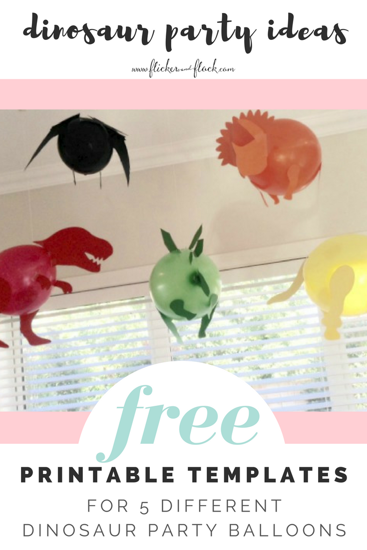 Diy Dinosaur Party Balloons With Bie Templates