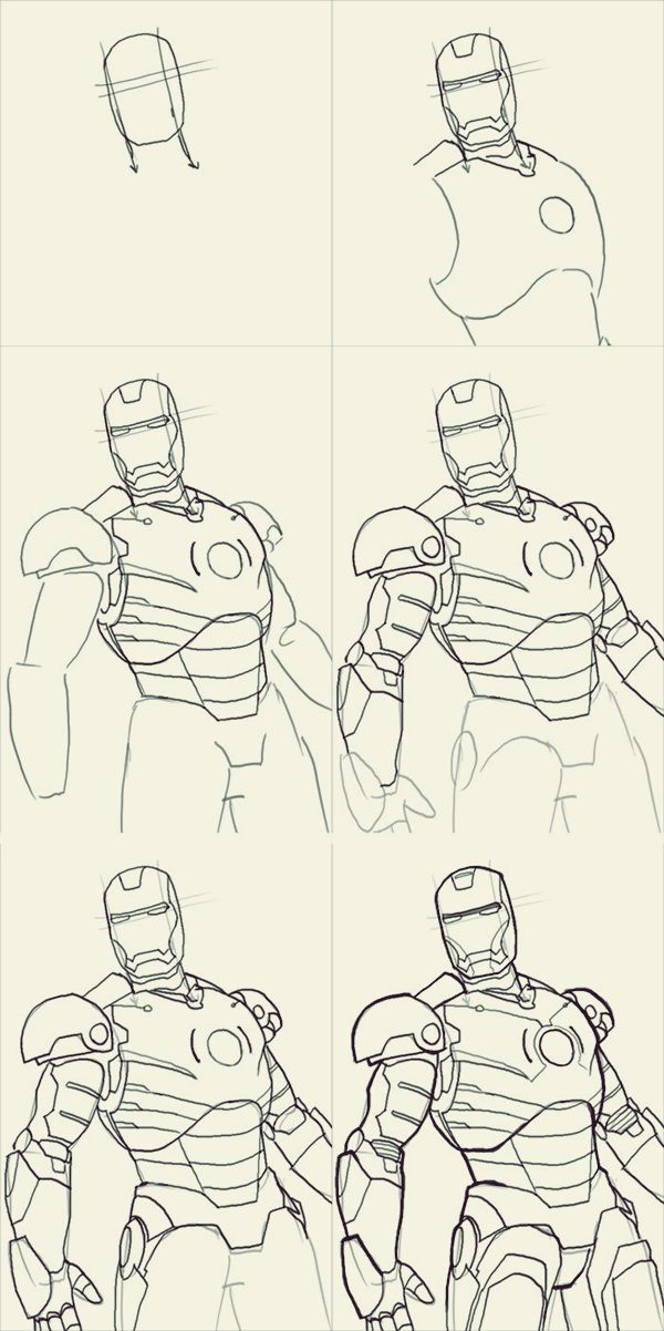 How To Draw Iron Man 10 Step By Step Examples Marvel Drawings Iron Man Drawing Iron Man Drawing Easy