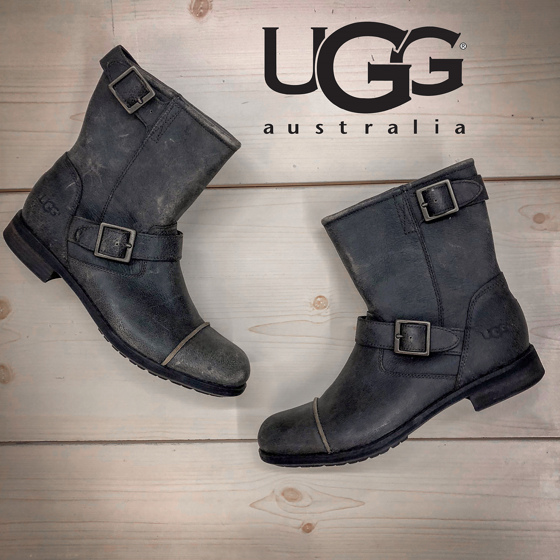 f8b35e99ae Vintage-distressed boots are a must-have for a perfect fall evening ...