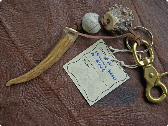Antler Keychain and Bag Charm on Etsy, $52.00