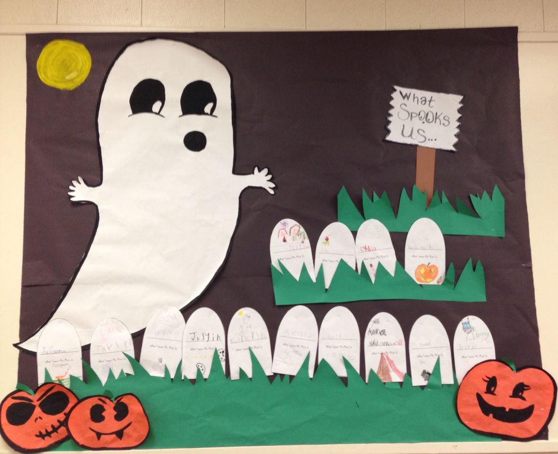 October Halloween Bulletin Board What Spooks Us Most
