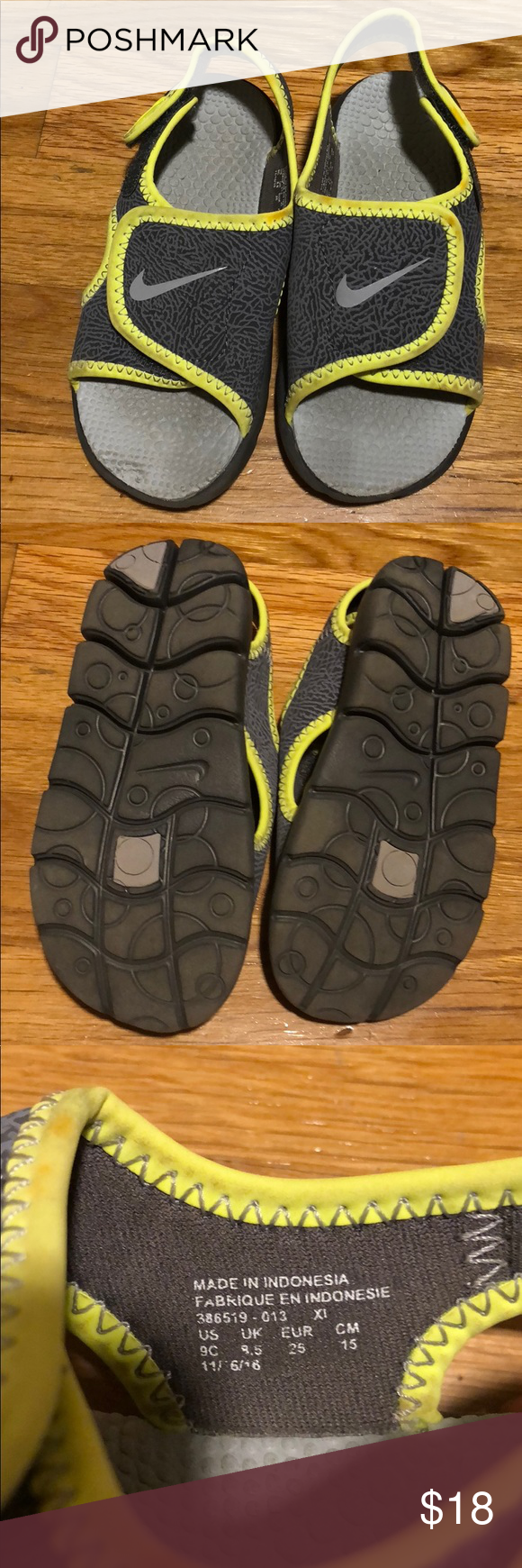 744483425ed3d7 Boys toddler Nike sandals size 9 Good condition Nike Shoes Sandals   Flip  Flops