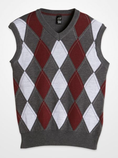 G-Net Gray & Burgundy Argyle Sweater Vest $14.99 #kids #boys #fall ...