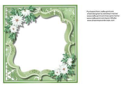 Incert Green Bracket with White Poinsettias  on Craftsuprint - Add To Basket!