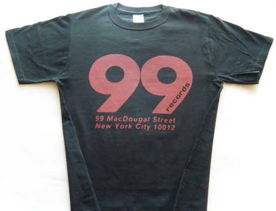 99 records shirt screen print short sleeve black von lostrecords