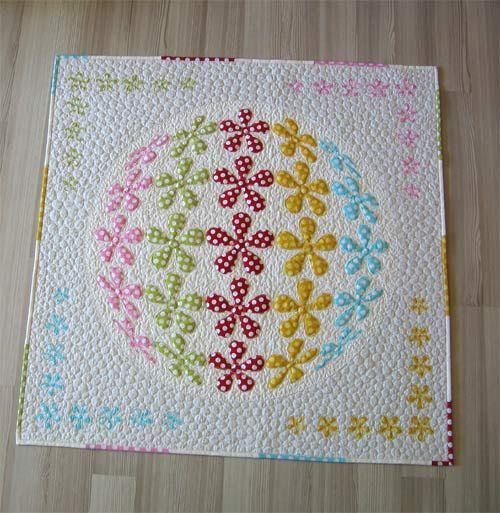 3D Flower Applique Quilt Pattern-Flower Power | Quilt inspiration