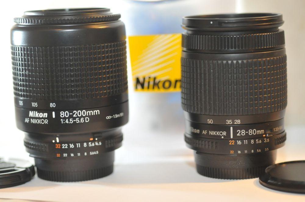 Nikon Af D Nikkor 28 80mm 80 200mm Two Fx Lens Set For D7200 D300 D90 D80 D600 Nikon D7200 Nikon Nikon D80