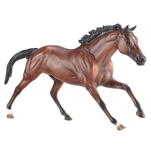 Breyer Sam Horse Figurine - What can be sweeter than winning two Gold Medals during your first trip to the Olympics? Becoming the first horse and rider ever to hold Olympic, European and World titles simultaneously! Riding for Germany, Michael Jung accomplished this incredible feat while riding his champion eventing horse, Sam, a 2000 Württemberg gelding.