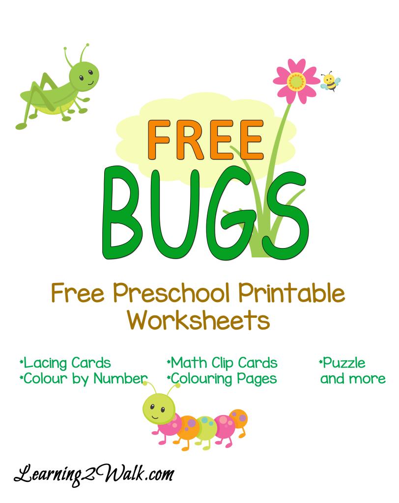 Free Bugs Preschool Printable Pack   Printable worksheets, Free ...