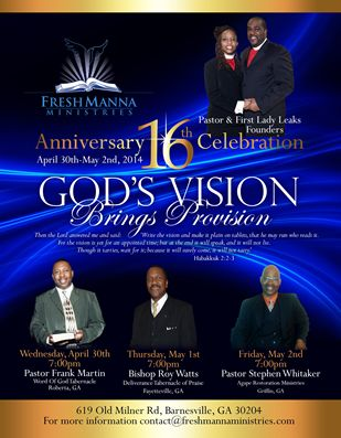 Church Anniversary Flyer Design  Flyers Examples