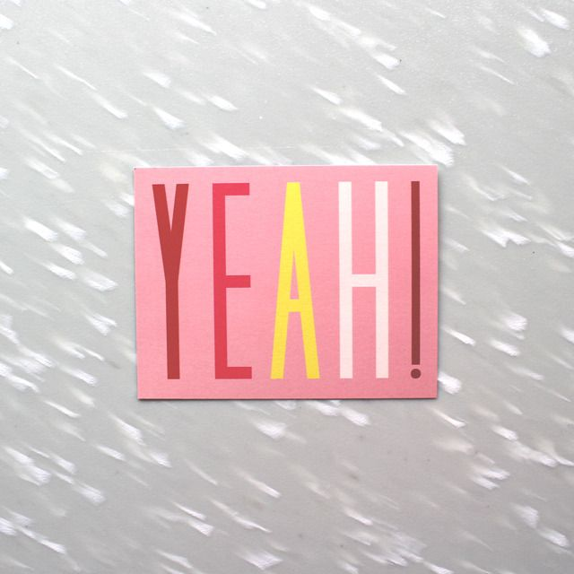 Image of Yeah! Notecard Pack from Ship and Shape