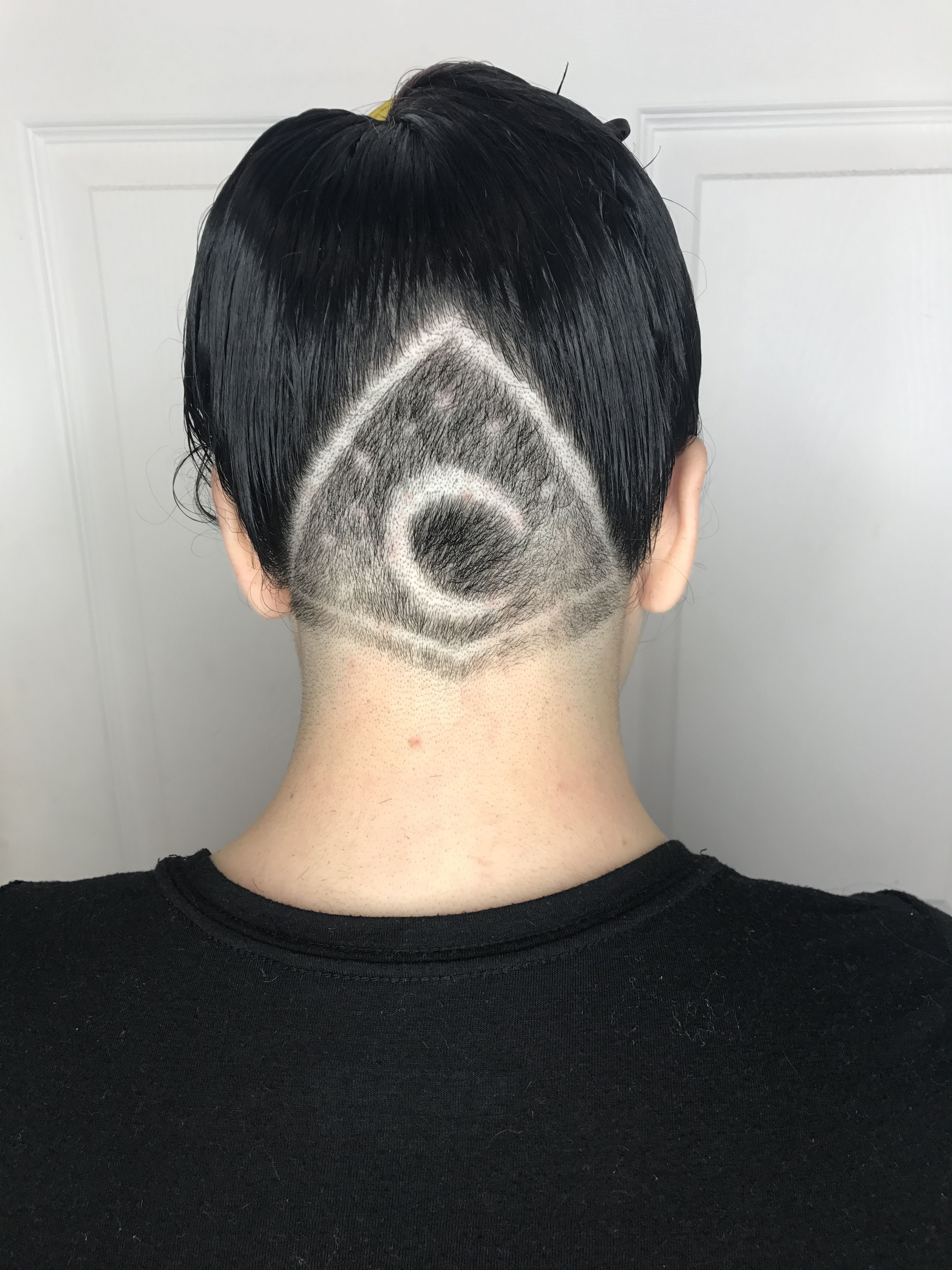 Crescent Moon Undercut Design Undercut Designs Undercut Undercut Hairstyles