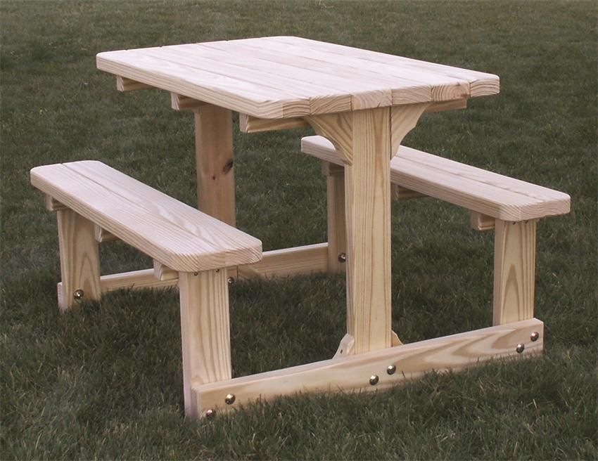 Amish Cedar Wood Child S Picnic Table Kids Picnic Table Pallet Furniture Outdoor Diy Picnic Table