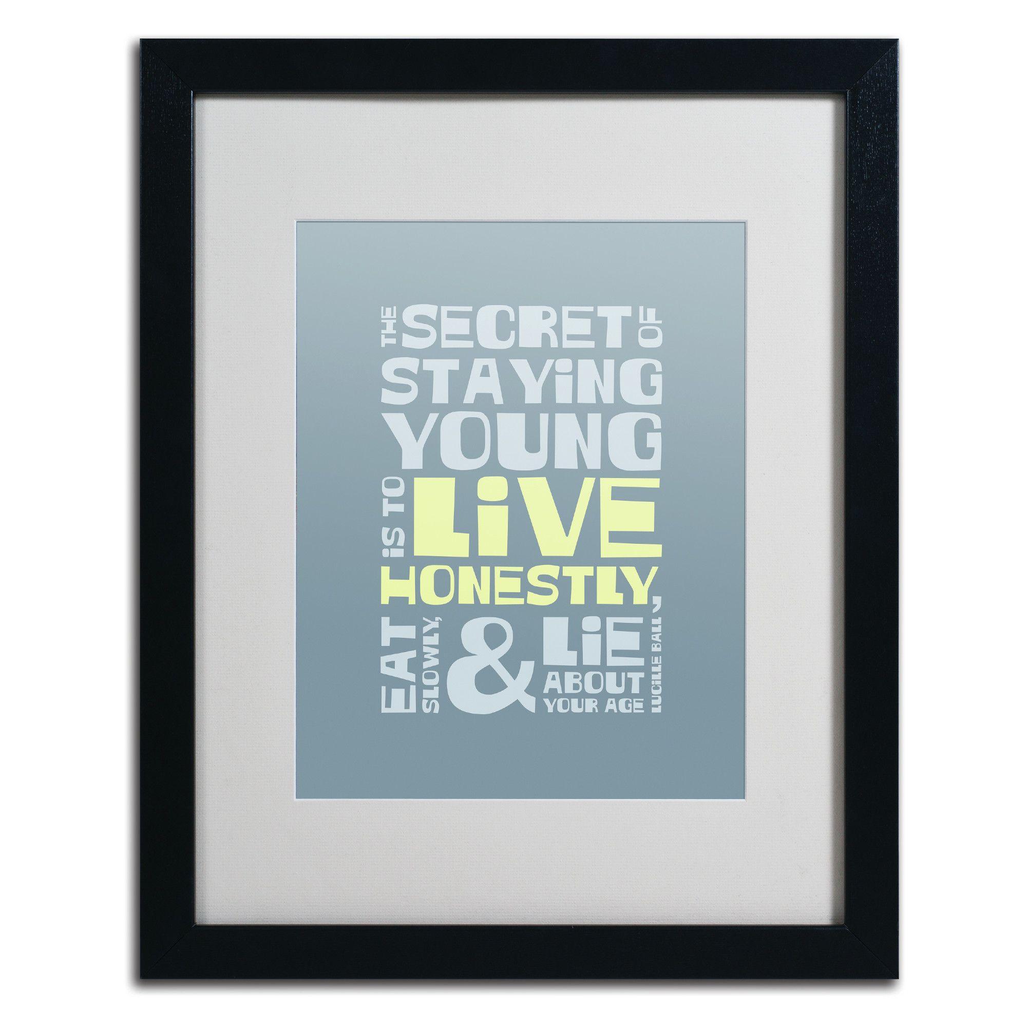 'Live Honestly I' by Megan Romo Framed Textual Art