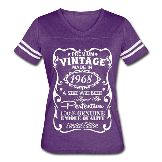50th Birthday Gift For Woman 1968 Shirt Made In 50 Year Old VELVETY PRINT