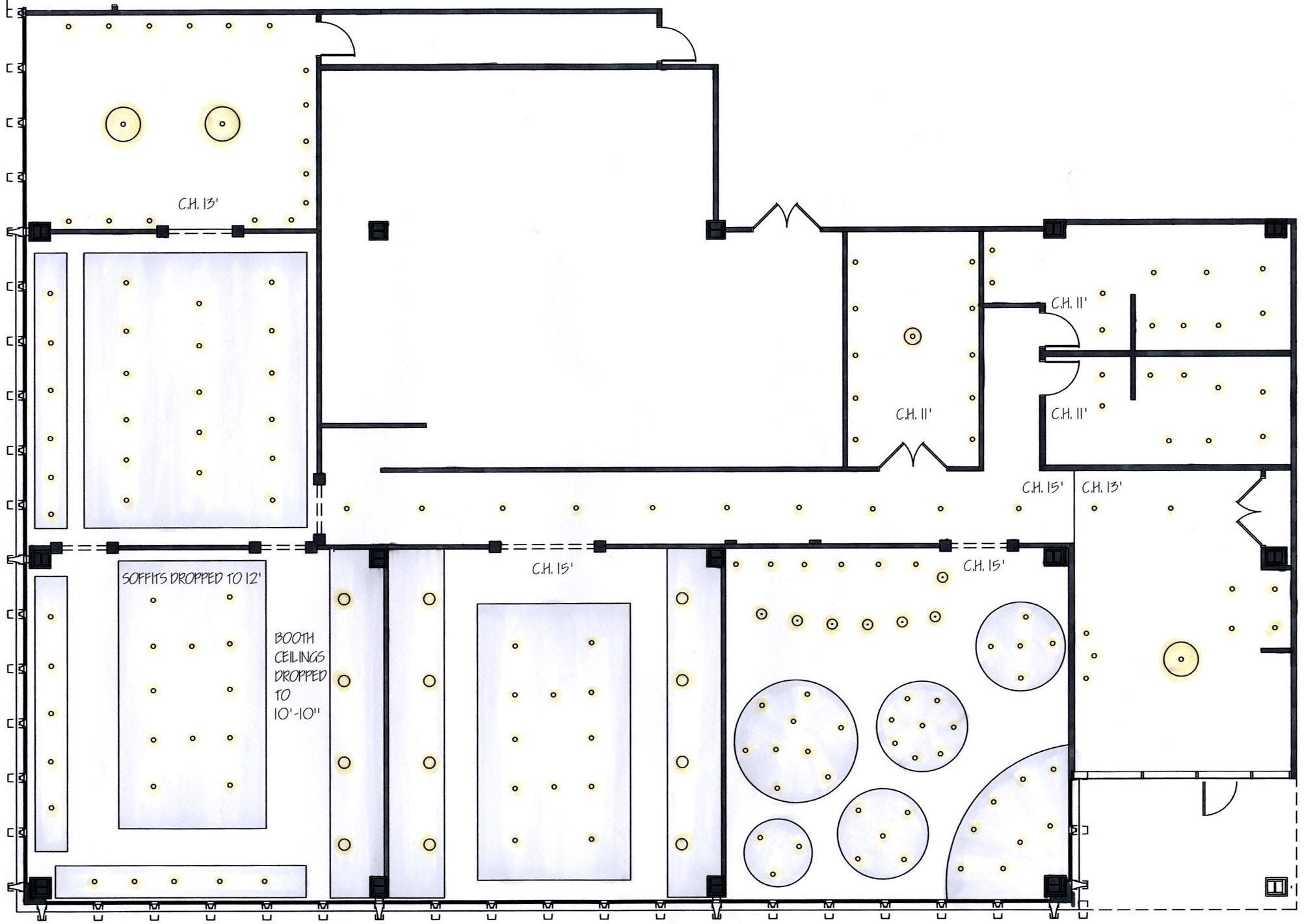 Preliminary Floor Plans And Reflected Ceiling Plans  Cosas Ricas Classy Kitchen Design Layout Template Decorating Design