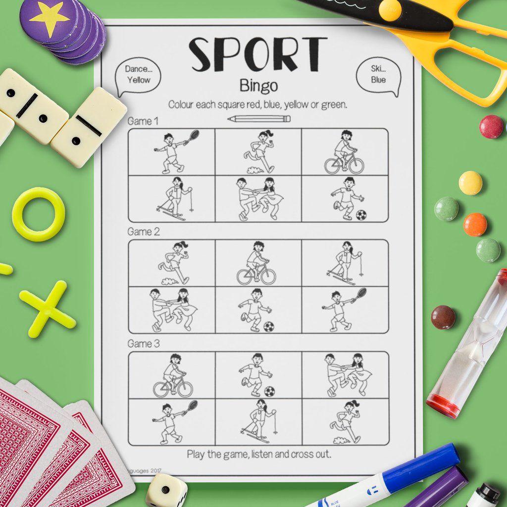 Sport Bingo Game
