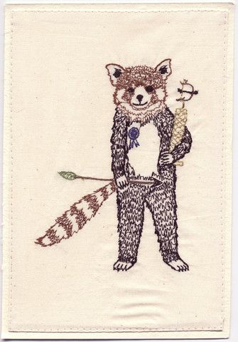 Red Panda embroidery