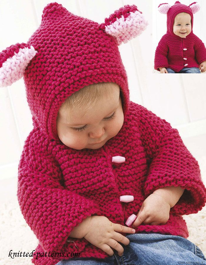 Baby Jacket Knitting Pattern Free Knitting Pinterest Knitting