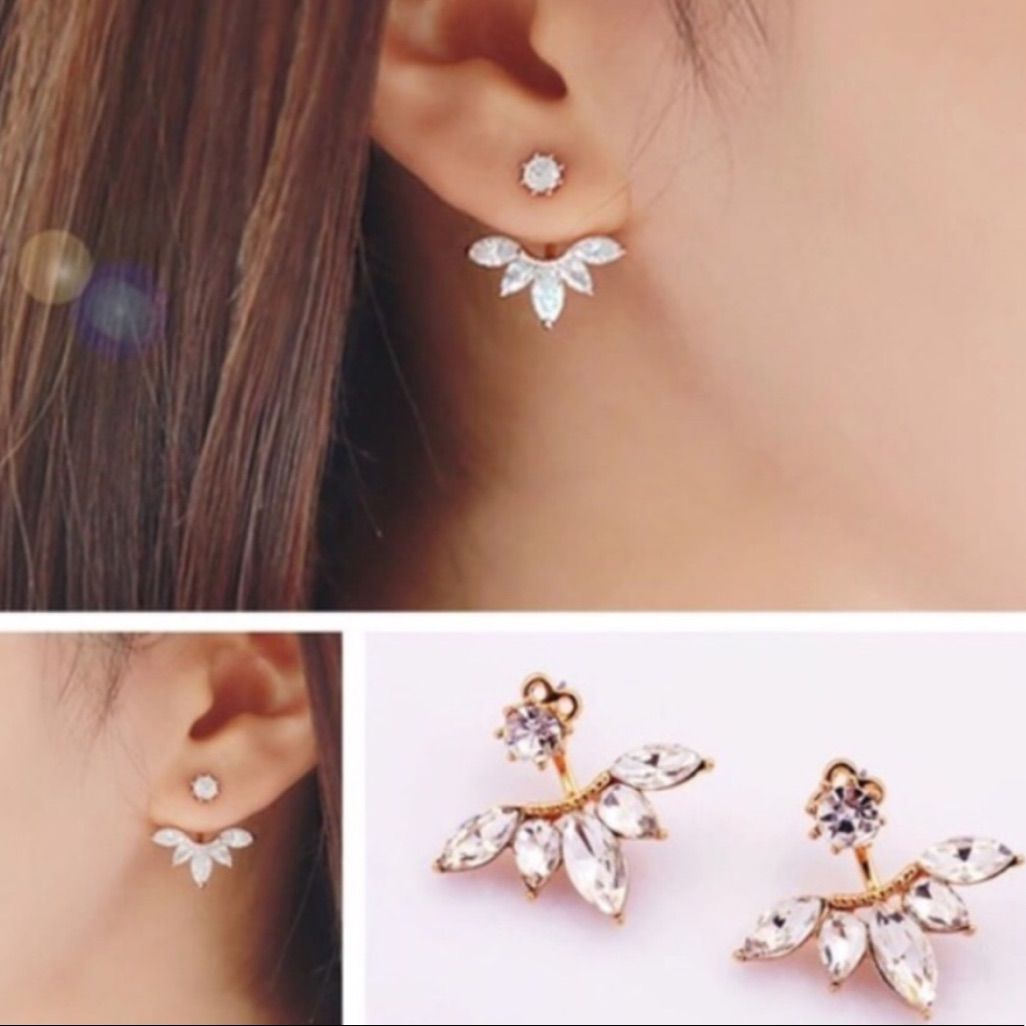 Piercing ideas for girls  Crystal Earrings  Products  Pinterest  Crystals and Products