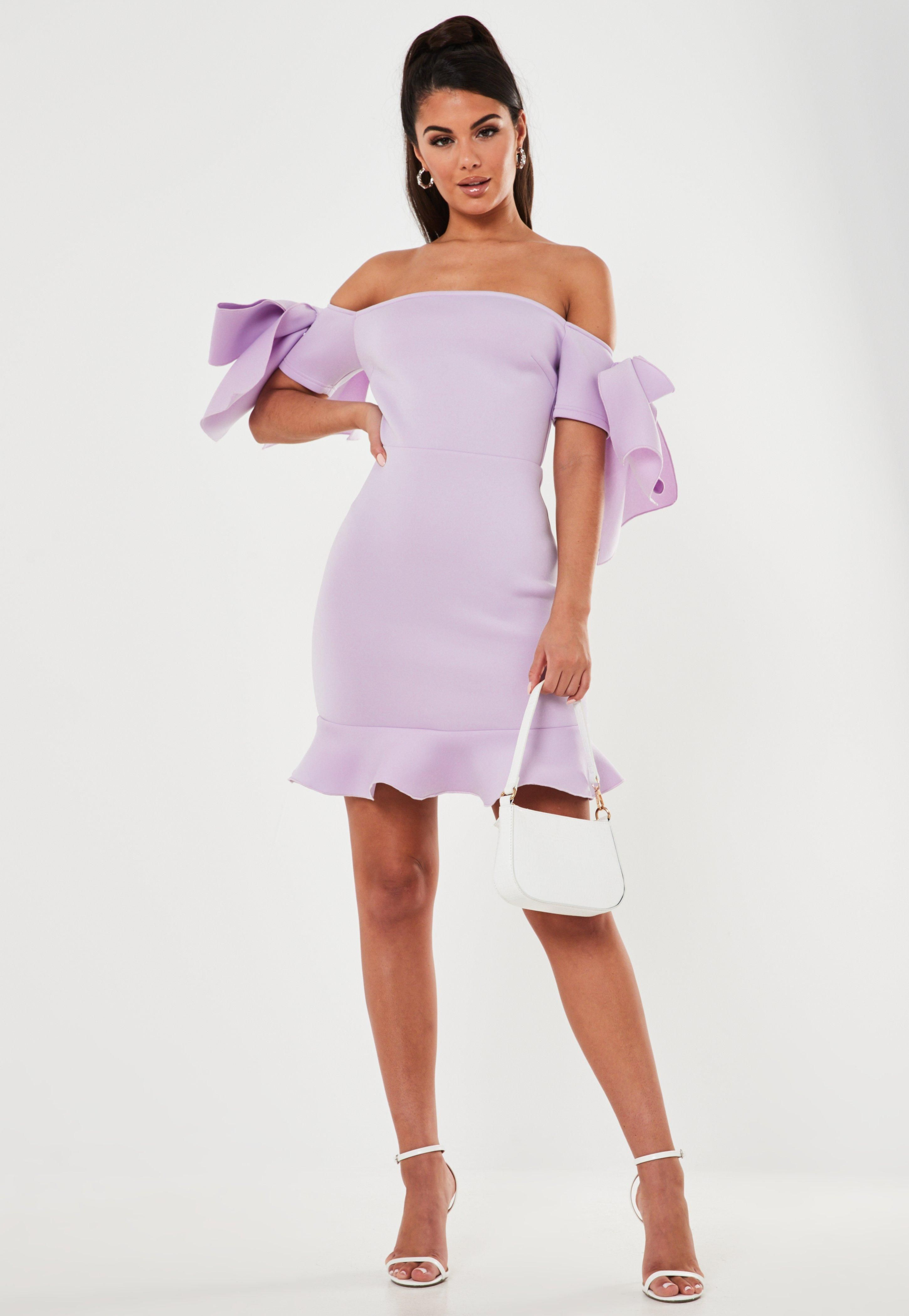 Lilac Scuba Bardot Bow Mini Dress Sponsored Bardot Affiliate Scuba Lilac Mini Dress Lavender Dress Outfit Interview Dress [ 4200 x 2900 Pixel ]