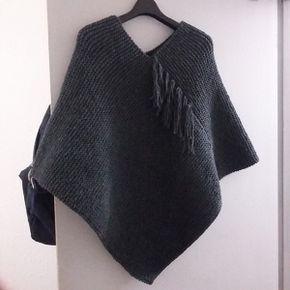 Le poncho | Modele poncho tricot, Tricot poncho facile, Poncho tricot
