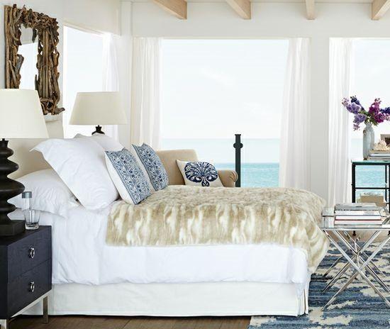 Minimalist Driftwood Mirror above Bed Contemporary - Elegant driftwood bedroom furniture Minimalist