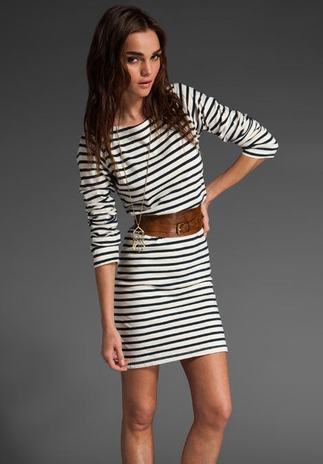 096509521 Shop amelia dress in navy white stripe womens dresses casual long sleeve  from Brandy Melville in our fashion directory.