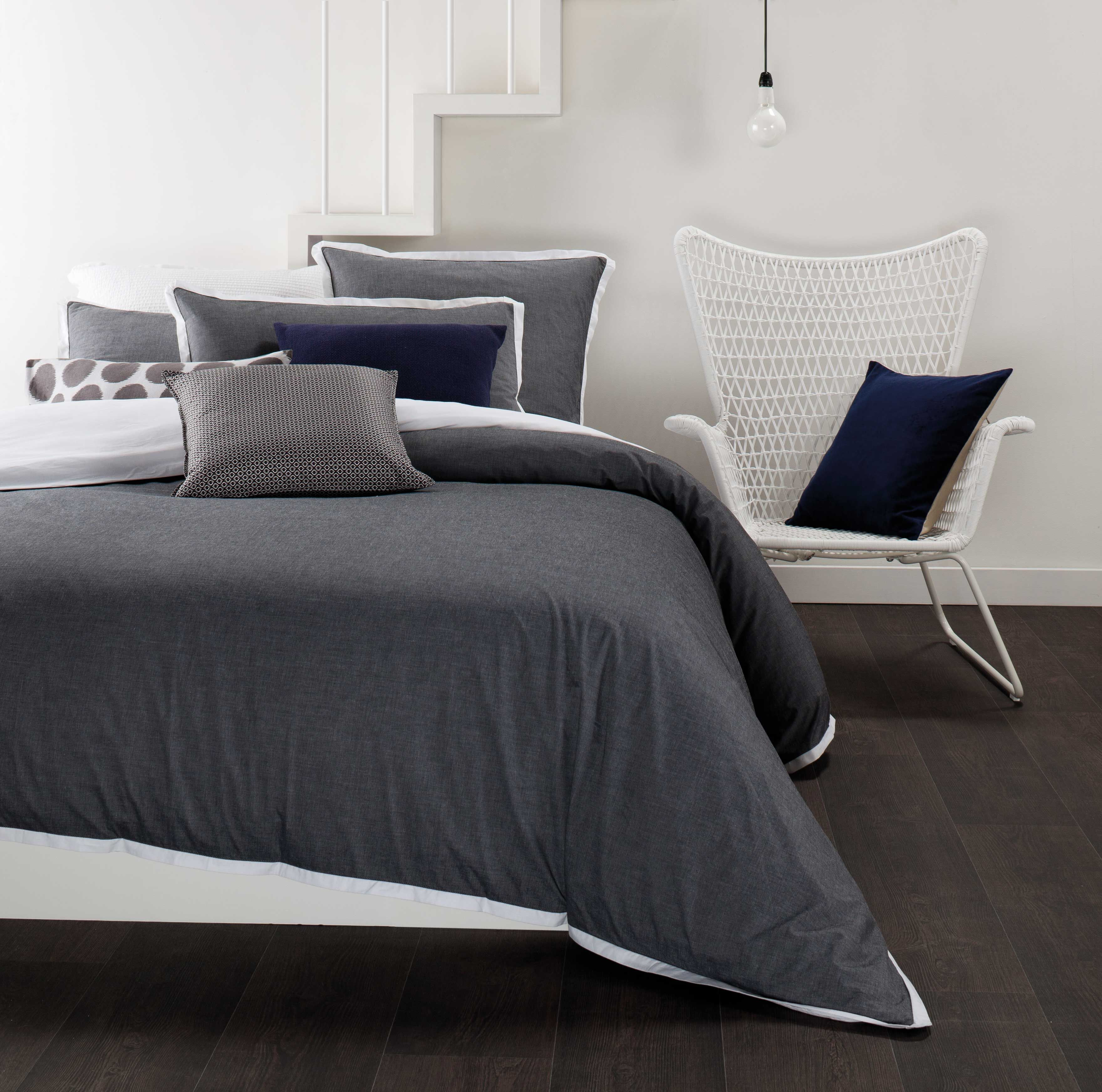 Individual Items :: Quilt Cover Sets :: Orson Charcoal Quilt Cover ... : charcoal gray quilt - Adamdwight.com