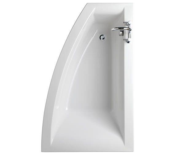 Twyford Indulgence 1600 X 500 1000mm Offset Corner Shower Bath